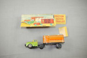 Track Truck Trailer American Overland Sheet Metal Friction Vintage Japan 50er J.