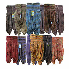 Womens Harem Trousers Hippie Baggy Stretch Waist Pants Casual Wide leg boho Ali