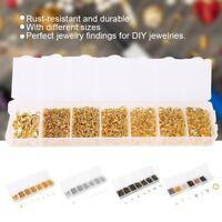 1500Pcs/Box Open Jump Ring Set Mixed Split Rings Connectors Jewelry DIY Making
