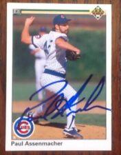 Paul Assenmacher Hand Signed 1990 Upper Deck Baseball Card Chicago Cubs