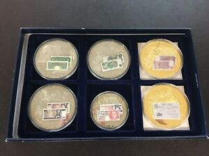 British Banknote Commemorative Coin Collection 6 coins