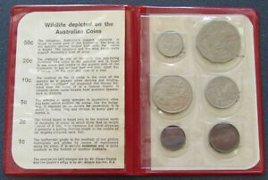 1971 Royal Australian Mint Wildlife Uncirculated Coin Set - Free Shipping