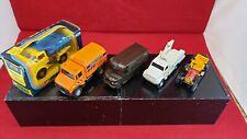 27. Lot of 5 diecast trucks/cars-model railroad size