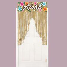 2m Tropical Hawaiian Party Aloha Grass Doorway Door Sign Curtain Decoration UK