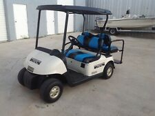 White 2012 Ezgo rxv 4 passenger seat golf cart AC MOTOR with custom seats 48v