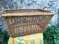 Vintage French Wicker Bouloungerie Basket Bakery Bread Laundry Mint Very Large