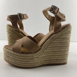 Women's Tony Bianco Caramel Wicker Wedge Sandal Heel Shoes Size 41