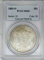1885-O PCGS Silver Morgan Dollar MS64 OBH Old Blue Holder Cert*9876