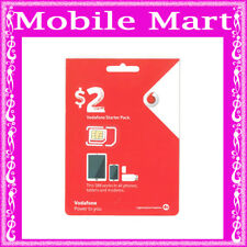 Vodafone◉2 x $2 Prepaid SIM CARD◉0 Credit◉Calls Texts & Net◉Regular Micro Nano◉