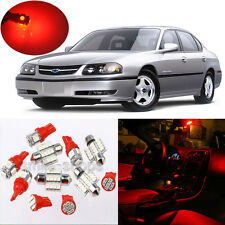 13pcs Red Interior LED Light Package Kit for Chevy Impala 2000-2005 #