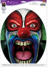 TOILET BOWL SEAT DECORATION EVIL CLOWN cling bathroom UNDER LID decal sticker