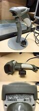 Honeywell MS9590 VoyagerGS 1D Laser Barcode Scanner Série RS-232 Blanc + STAND
