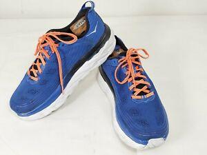 Hoka One One Bondi 6 Blue Orange Running Athletic Shoes Mens Size 11 SB7