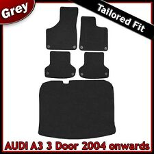 Audi A3 Mk2 3-Door 2003-2013 Fully Tailored Carpet Car Floor & Boot Mats GREY