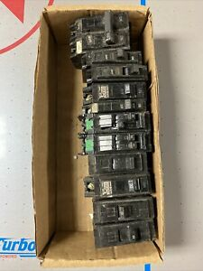 GE And Square D circuit breakers lot of 11