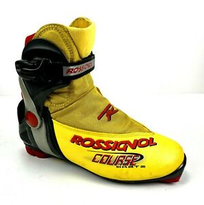 ROSSIGNOL Course Skate Cross Country Nordic XC Boots Size 41 US 8.5 Yellow NNN