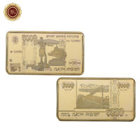WR 999 24K Gold Art Bar Russia 1901 100 Rubles Banknote Collectibles Gift F Men