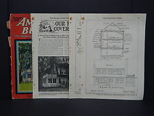 Houses, Homes, American Builder, c.1926 - Cover And Article January