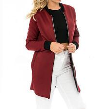 Longline bomber jacket womens ebay