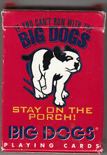"""BIG DOGS PLAYING CARDS """"If you can't run with BIG DOGS Stay on the Porch"""""""