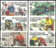 Timbres Sports d'hiver JO Hockey Mauritanie 439/44 o (47329AH)