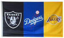 Los Angeles Dodgers Lakers Oakland Raiders Flag 3x5 ft Banner