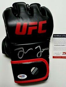 "JON ""BONES"" JONES  SIGNED  NEW UFC  RIGHT HANDED BLACK GLOVE, PSA COA #8A83712"