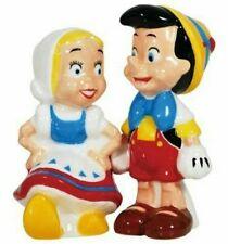 Westland Giftware Disney Pinocchio Ceramic Salt & Pepper Shaker Set Nib