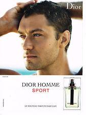 PUBLICITE ADVERTISING 094  2008  DIOR   homme SPORT JUDE LAW   nouveau parfum