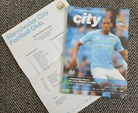 Manchester City v Blackburn Rovers 2010 Programme with Teamsheet! LAST ONE!!!