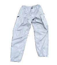 Men's Vintage 90's Nautica Competition Silver Nylon Reflective Pants Sz Medium