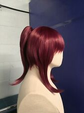 Pink Brown Short Ponytail Clip Synthetic Cosplay Costume Wig Wig