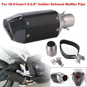 38-51mm Motorcycle ATV Bike Slip-on Exhaust Muffler Pipe Tip DB Killer Silencer