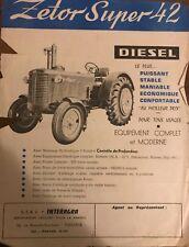 Brochure Tracteur Zetor Super 42