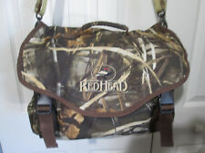 Redhead Hunting Camo Bag/ Satchel/ Heavy-Duty/ Expandable/Shoulder Strap/Ex Cond