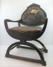 alt Lehnenstuhl Stuhl Holz Eiche antik 19.Jhd für Esszimmer Tafel  Villa #202545