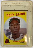 1959 Topps Set Break #380 - Hank Aaron Milwaukee Braves 1952-1958