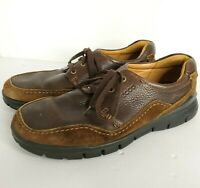 ECCO Light Shoes Mens Sz 45 US 11-11.5 Lace up Shock Point Casual Brown Leather