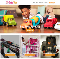 Baby Toys Website Business - Earn $149 A SALE. FREE Domain|Traffic|FREE Hosting