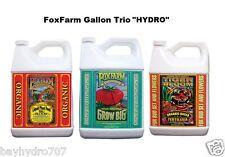 """FoxFarm Gallon TRIO Organic Tiger Bloom / Grow Big / Big Bloom """"HYDRO FORMULA"""""""
