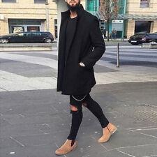 Fashion Men's Winter Wool Coat Trench Coat Warm Outwear Overcoat Long Jacket Top