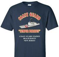 COAST GUARD STATION BEACH HAVEN* NEW JERSEY *COAST GUARD VINYL PRINT SHIRT/SWEAT