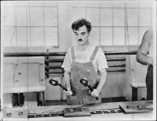 "Charlie Chaplin in the movie ""Modern Times"". - 8x10 photo"