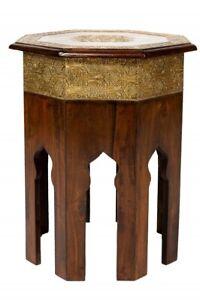 Orientalischer Marokkanischer Beistelltisch Tisch Blumentisch Telefontisch Holz