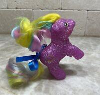 Hqg1c ~ Lucky Star ~ Glitter Island - Baby Sparkle G1 Custom Pony Rearing