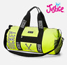 New Justice Girls Hockey Sparkle Duffle Travel Bag Lightning Green Poly NWT