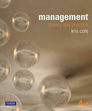 Management Theory and Practice; Kris Cole 4E  -  FREE POSTAGE IN AUSTRALIA