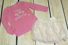 NWT Gymboree Fairy Wishes grandma top 5T Baby Gap Moon and Stars bubble skirt 4T