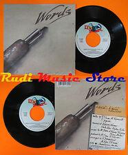 LP 45 7'' F.R.DAVID Words 1990 italy DDD 113 406 cd mc dvd