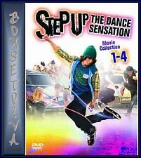 STEP UP 1 2 3 & 4 MOVIE COLLECTION  **BRAND NEW DVD BOXSET  **